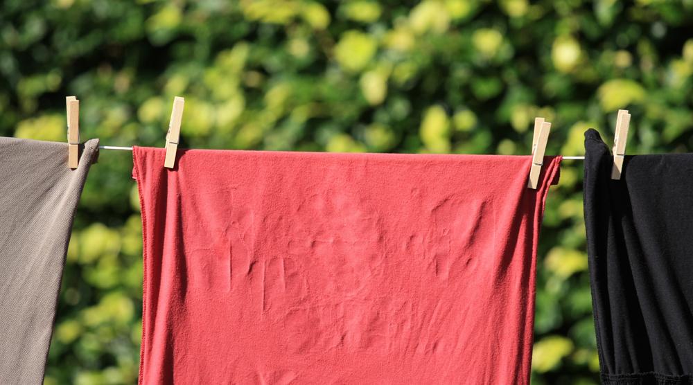 T-shirts på tvättstreck